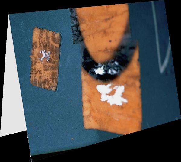 Blue Orange Abstract SoHo Detail Art Card – Sherry Mills