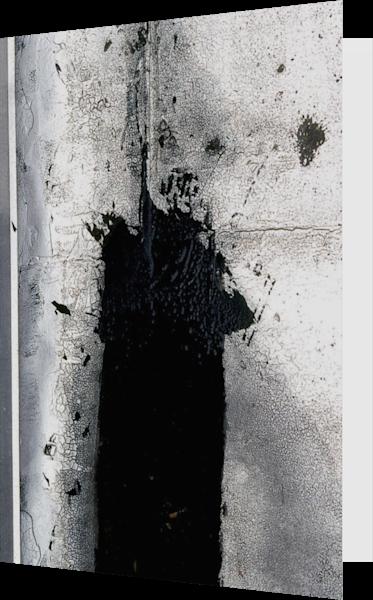 Bronx Tar Abstract Urban Zen Greeting Card – Sherry Mills
