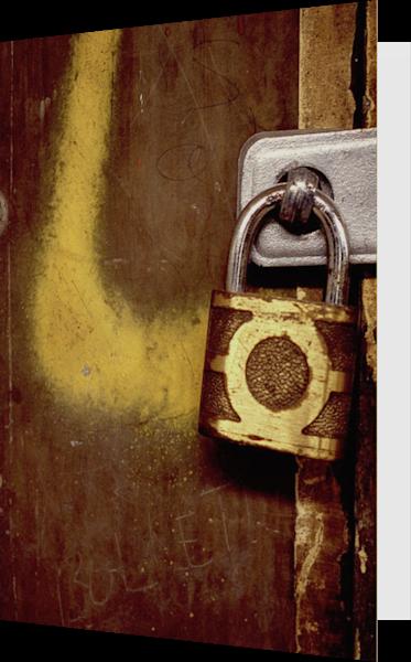 Bullet Abstract Padlock Subway Greeting Card – Sherry Mills