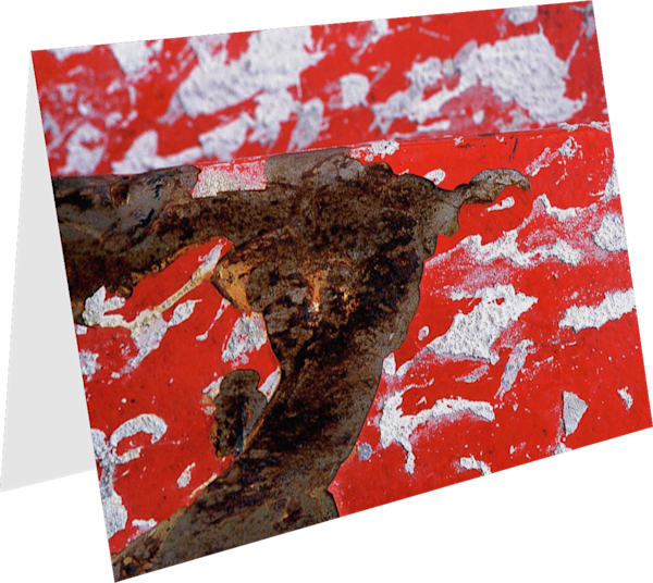 Abstract Red Splattered NYC Greeting Card – Sherry Mills