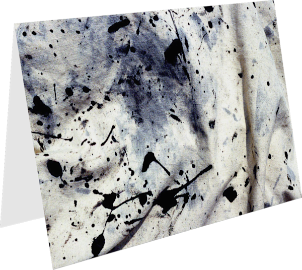 Drop Cloth Close Up Abstract Greeting Card – Sherry Mills