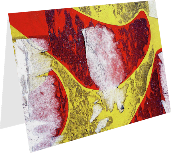 Vibrant Red Yellow Abstract NYC Art Card – Sherry Mills