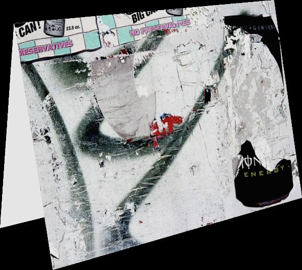 Abstract Graffiti Harlem Fine Art Card – Sherry Mills