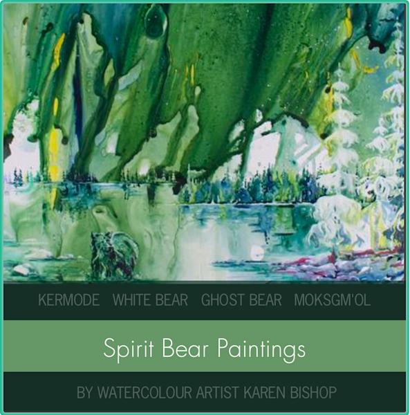 Spirit Bear Paintings | Karen Bishop Artist