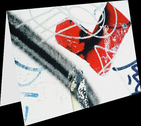 Abstract NYC Wall Heart Graffiti Art Card – Sherry Mills