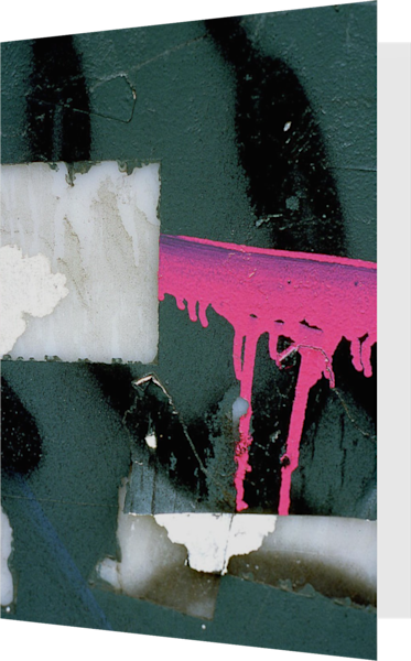 Pink Barricade Abstract NYC Greeting Card – Sherry Mills
