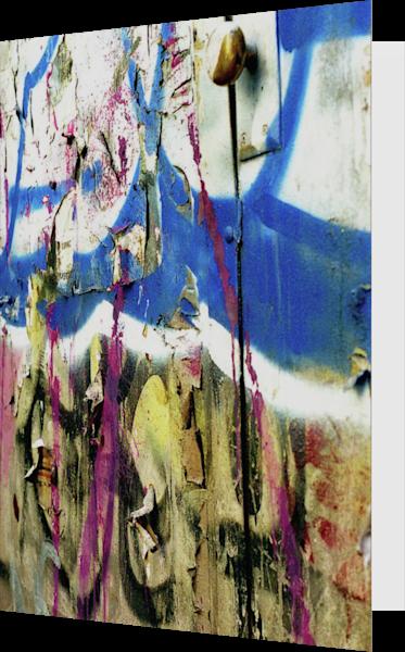 Natural Collage SoHo Graffiti Door Art Card – Sherry Mills
