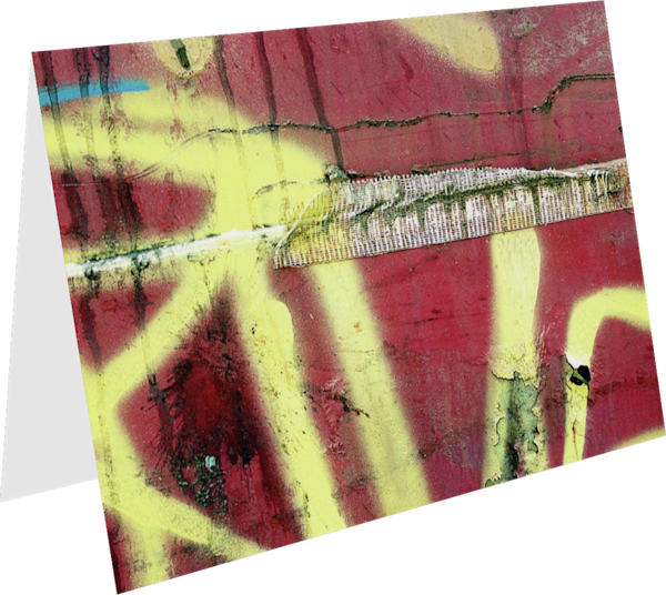 Abstract Yellow Graffiti NYC Greeting Card – Sherry Mills