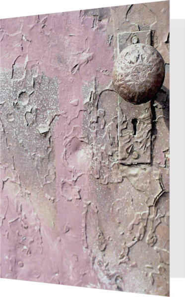 Pink Doorknob Abstract Brooklyn Art Card – Sherry Mills