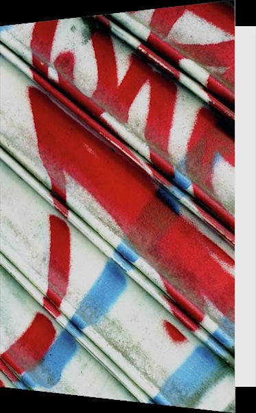 RWB Abstract Graffiti NYC Greeting Card – Sherry Mills