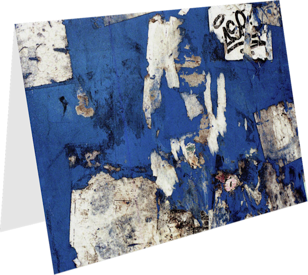 Soho Abstract Blue Street Collage Art Card – Sherry Mills