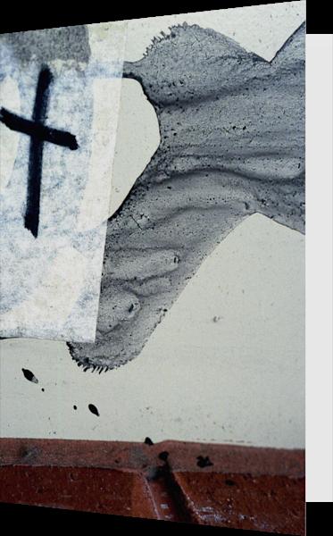 Silent Religion Graffiti Cross Greeting Card – Sherry Mills