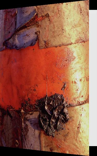 Abstract Orange San Diego Art Greeting Card – Sherry Mills