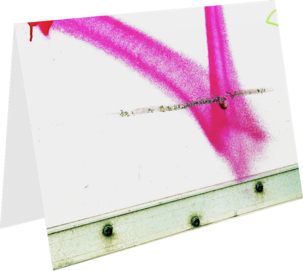 Pink Spray Paint Abstract NYC Greeting Card – Sherry Mills