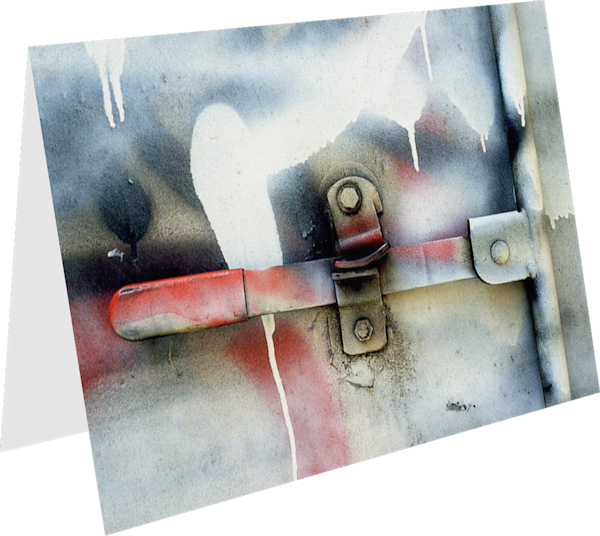 Truck Handle Abstract Graffiti Greeting Card – Sherry Mills