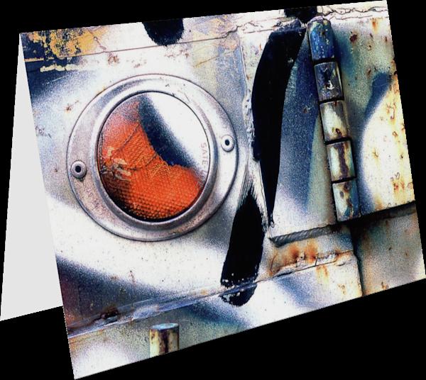 Abstract Reflector And Graffiti NYC Art Card – Sherry Mills