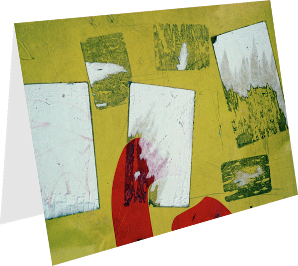 NYC Wall Rectangles Abstract Bright Art Card – Sherry Mills