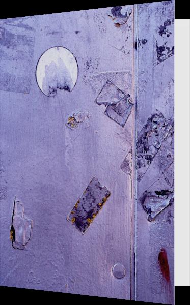 Purple Metallic Urban Abstract NYC Art Card – Sherry Mills