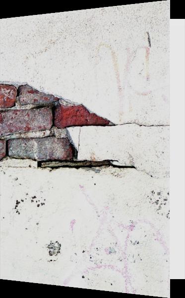 Abstract Brooklyn Brick Wall Greeting Card – Sherry Mills