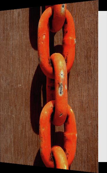 Abstract Orange Chain Brooklyn Fine Art Card – Sherry Mills