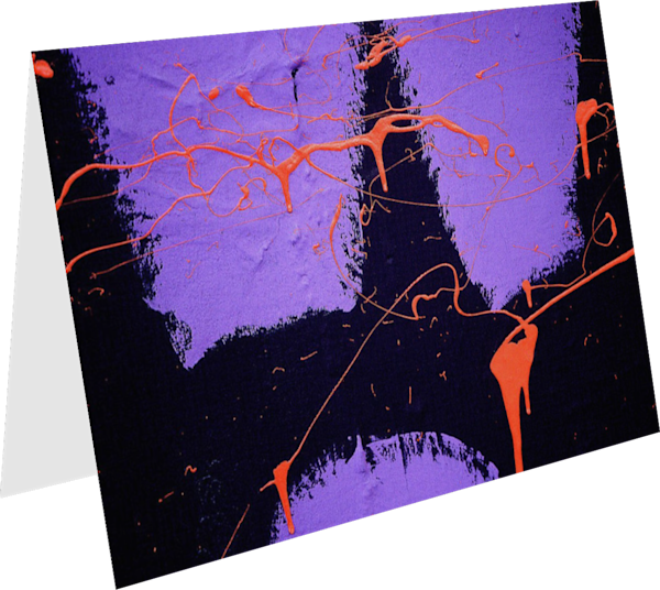 Dramatic Abstract Neon NYC Greeting Card – Sherry Mills