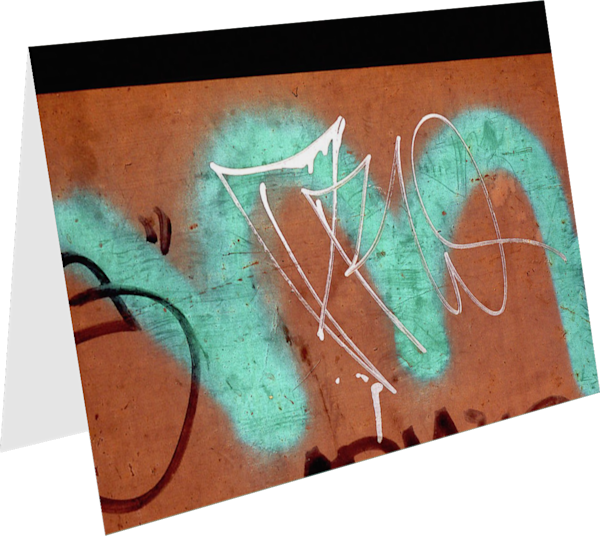 Teal Letter M Abstract NYC Graffiti Art Card – Sherry Mills