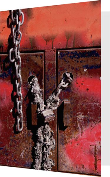 Graffiti And Chains NYC Art Greeting Card – Sherry Mills