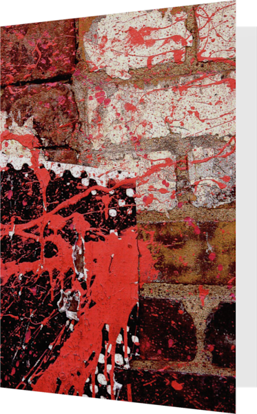 Red Paint Splattered NYC Wall Fine Art Card – Sherry Mills