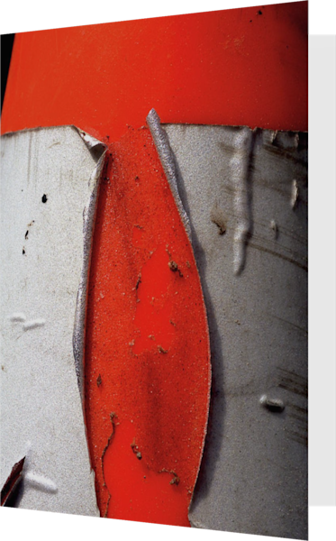 Abstract Orange Traffic Cone Greeting Card – Sherry Mills