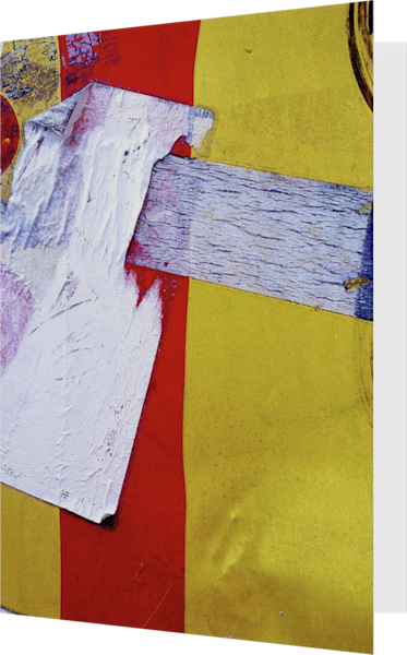 Abstract Pac Man Yellow Nolita Fine Art Card – Sherry Mills