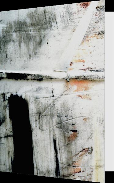 Abstract Black Stripe NYC Closeup Art Card – Sherry Mills