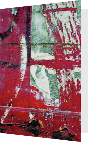 Abstract Expressionist NYC Closeup Art Card – Sherry Mills