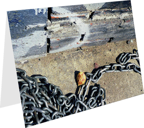 NYC Chain Abstract Sidewalk Greeting Card – Sherry Mills