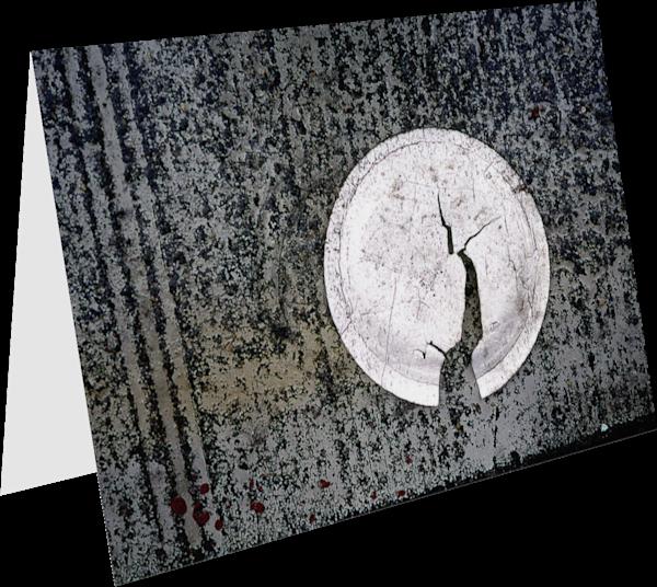 Bronx Plate Abstract Sidewalk Greeting Card – Sherry Mills