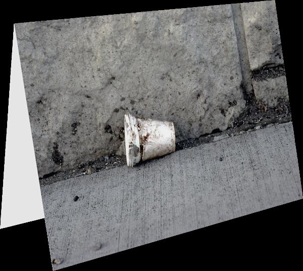 Bronx Sidewalk Styrofoam Cup Greeting Card – Sherry Mills