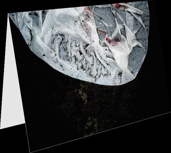 Plastic Bag Abstract Sidewalk Greeting Card – Sherry Mills