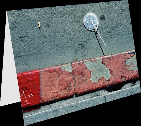 LA Soda Abstract Red Sidewalk Greeting Card – Sherry Mills