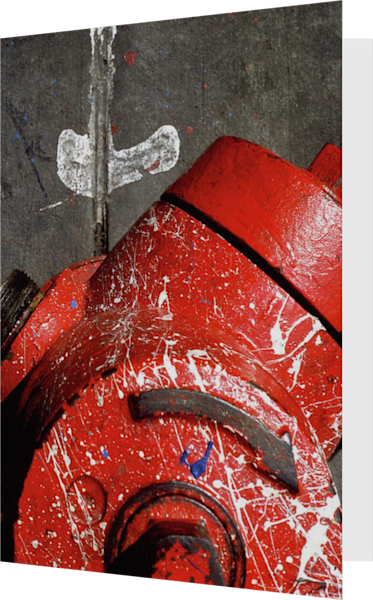 Abstract NYC Red Fire Hydrant Greeting Card – Sherry Mills