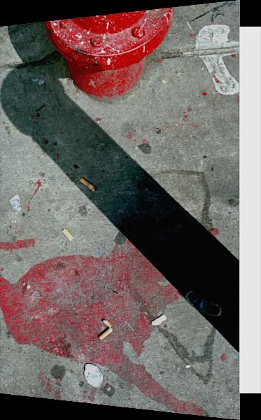 Abstract Hydrant NYC Sidewalk Greeting Card – Sherry Mills