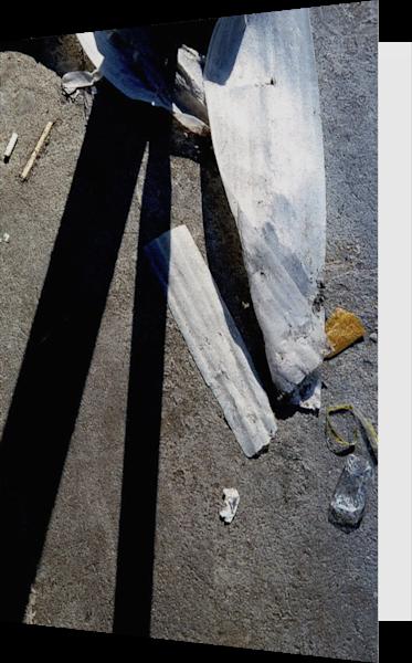 Abstract Chelsea Sidewalk Shadow Art Card – Sherry Mills