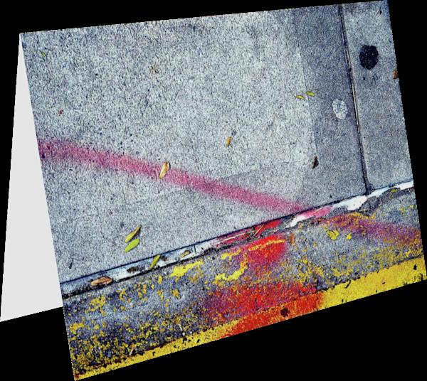 Cheerful Abstract NYC Sidewalk Greeting Card – Sherry Mills