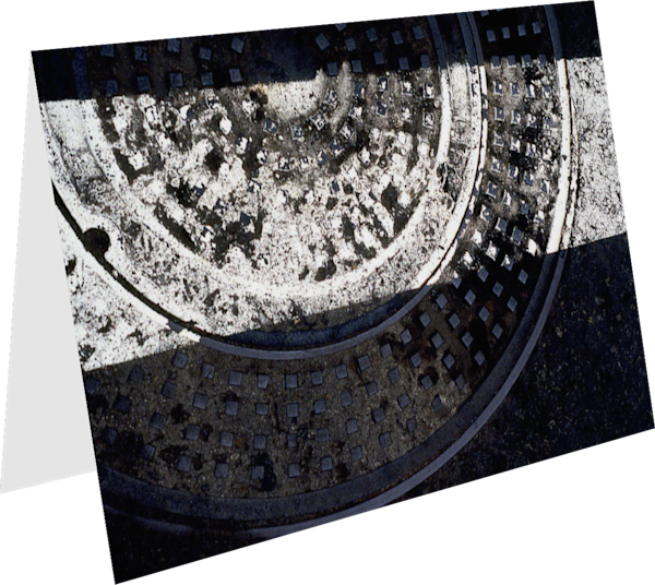 San Diego Abstract Manhole Art Greeting Card – Sherry Mills