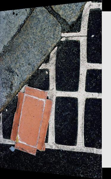 Abstract NYC Sidewalk Grid Art Greeting Card – Sherry Mills