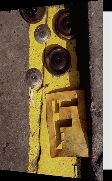 Yellow Letter F Chinatown Sidewalk Art Card – Sherry Mills