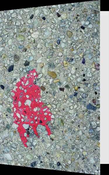 Long Beach Pink Abstract Sidewalk Art Card – Sherry Mills