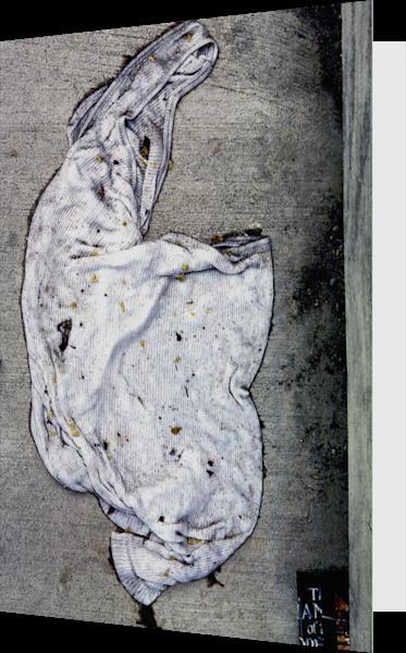 Wife Beater Shirt Abstract Sidewalk Art Card – Sherry Mills