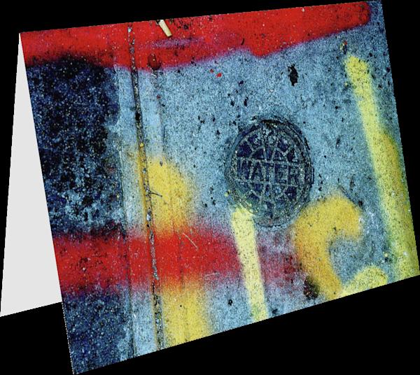 Sidewalk Water Utility Graffiti Art Card – Sherry Mills