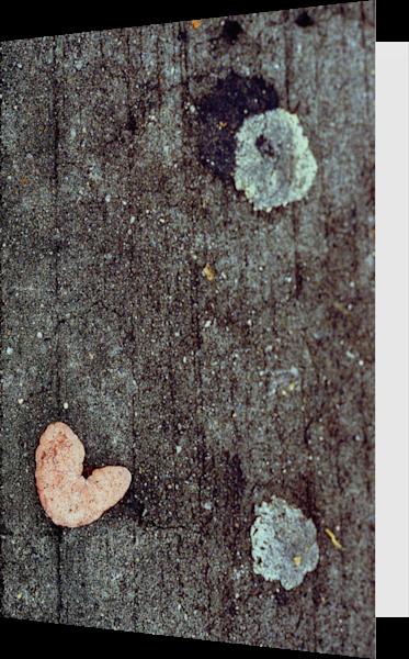 Gum Heart Abstract Sidewalk Greeting Card – Sherry Mills
