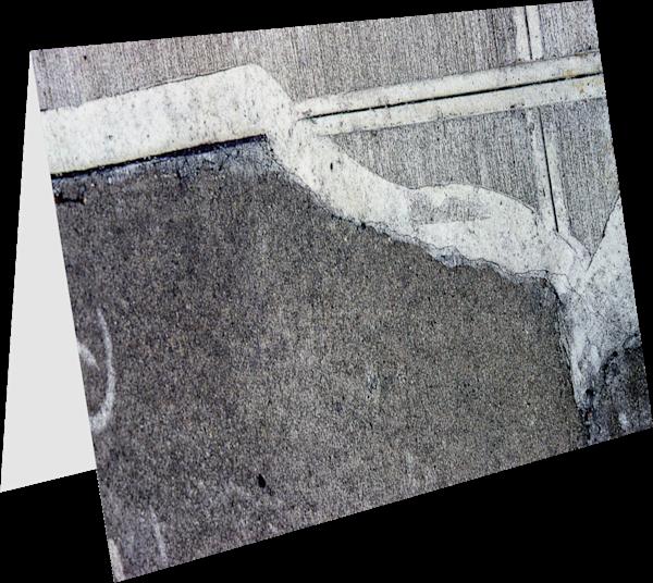 Abstract Bronx NYC Sidewalk Greeting Card – Sherry Mills