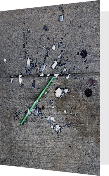 Green Straw Abstract Sidewalk Greeting Card – Sherry Mills